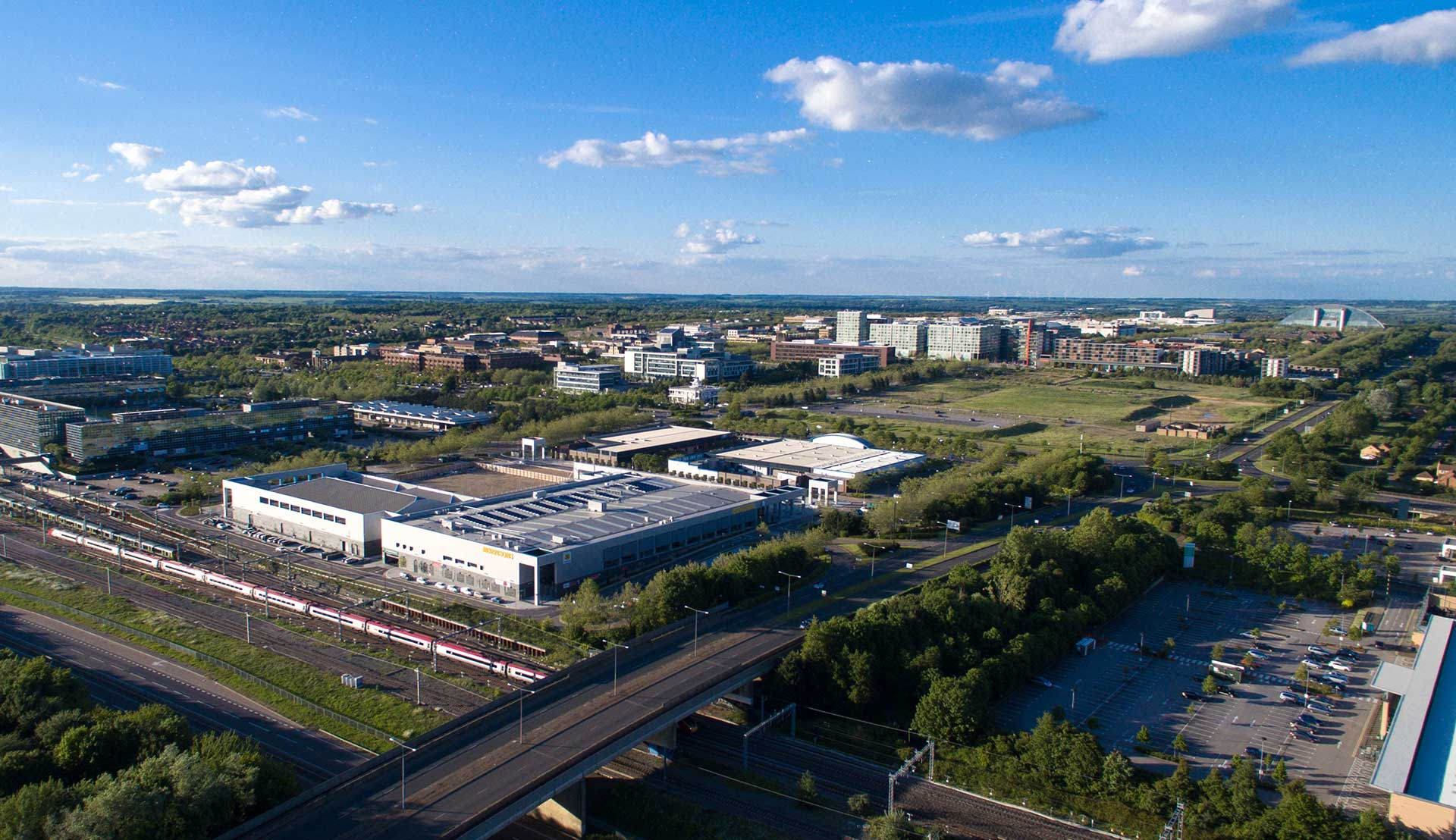 Aerial View of Milton Keynes